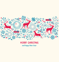 merry christmas poster on vector image