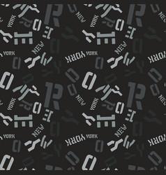 new york creative pattern vector image