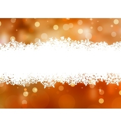 Orange background with snowflakes EPS 8 vector image