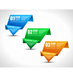Origami Ranking tabs vector image