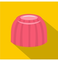 Pink fruit jelly icon flat style vector