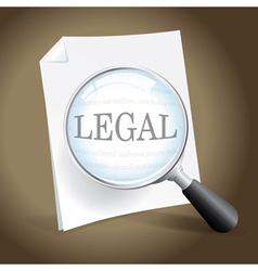 Reviewing a Legal Document vector image vector image