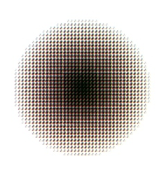 Round halftone screen pattern in cmyk colours on vector