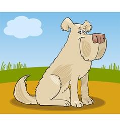 Sheepdog shaggy dog cartoon vector