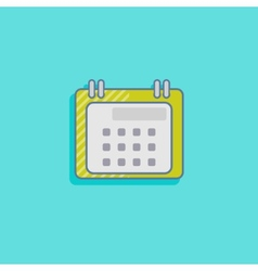 simple with a calendar flat icon design vector image