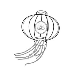 Sketch chinese red lanterns vector