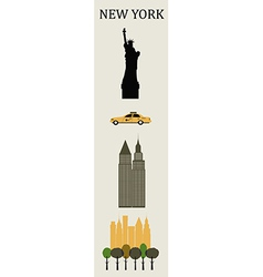 Symbols of New York vector image