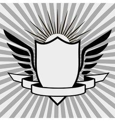 template heraldic logo vector image