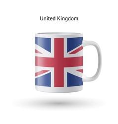 United kingdom flag souvenir mug on white vector