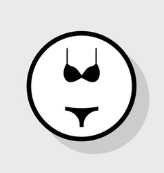 Women swimsuit sign flat black icon in vector