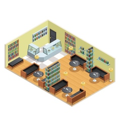 Library Isometric vector image