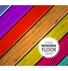 Colorful wooden background vector image