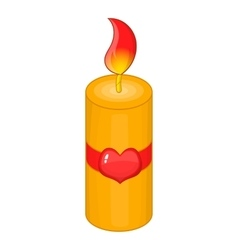 Valentine Day candle icon cartoon style vector image