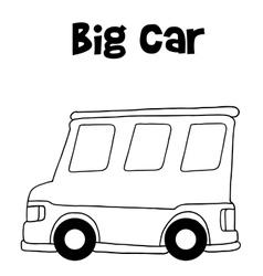 Big car of hand draw vector image