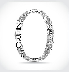 zero sign created from text vector image