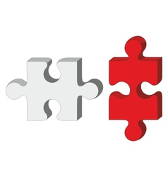 Red white puzzle vector