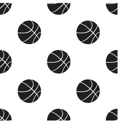 Basketball icon black single sport icon from the vector