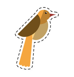 Cartoon bird dove fauna fly icon vector