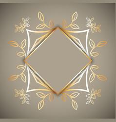 Decorative frame background vector