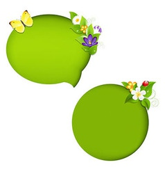 Eco nature speech bubble vector