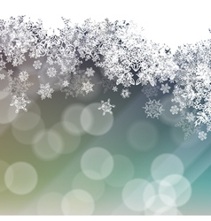 christmas snowflakes isolated background vector image