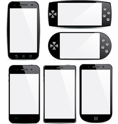 Set of smartphone concepts vector