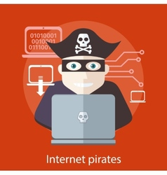 Internet pirates concept vector