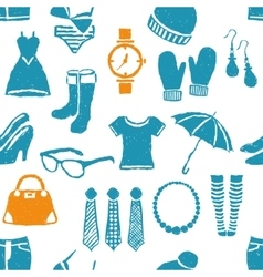 Seamless doodle fashion pattern vector
