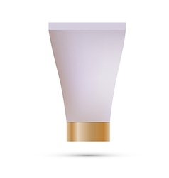 Tube mock-up for cream tooth paste gel sauce paint vector