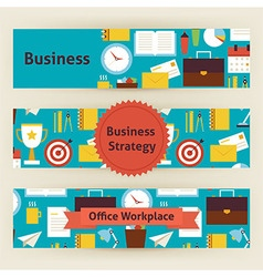 Business strategy and office workplace template vector