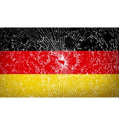 Flags germany with broken glass texture vector