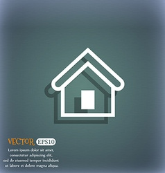 House icon symbol on the blue-green abstract vector