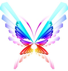 abstract colorful butterfly vector image