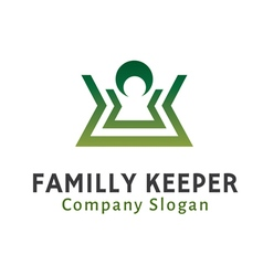 Familly keeper design vector