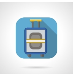 Flat color design luggage icon vector
