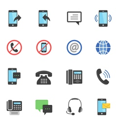 Color icon set - communication vector