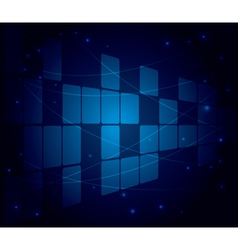 abstract blue background with squares vector image vector image