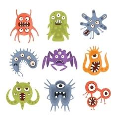Aggressive Fantastic Alien Microorganisms Set vector image vector image
