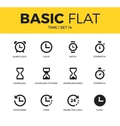 Basic set of time icons vector