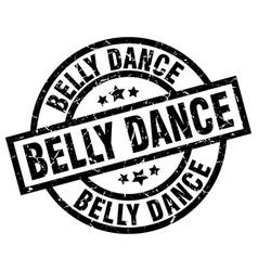 Belly dance round grunge black stamp vector