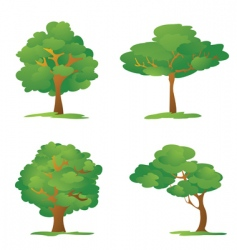 cartoon trees vector image