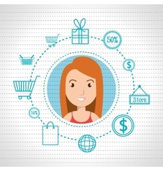 character money buy web woman vector image