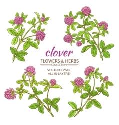 clover set vector image vector image