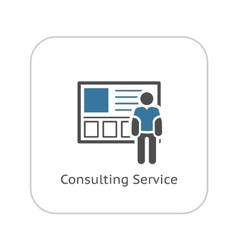 Consulting Service Icon Business Concept vector image vector image