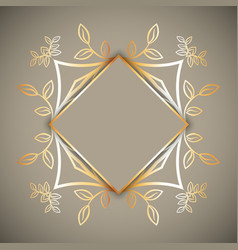 Decorative frame background vector