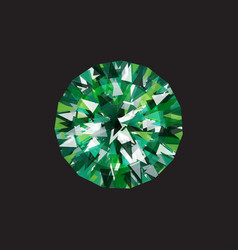 emerald on a black background vector image