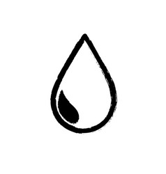 figure natural water drop to environment care vector image vector image