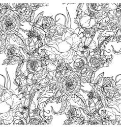 Flowers and butterflies vector