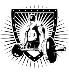 igi bodybuilder shield vector image vector image