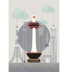 Japan kyoto tower vector